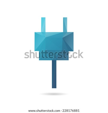 Plug abstract isolated on a white backgrounds, vector illustration - stock vector