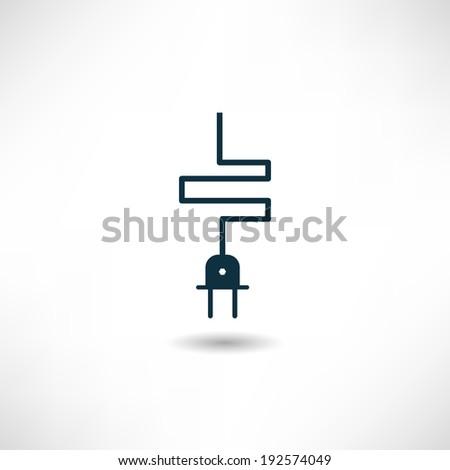 Plug icon - stock vector