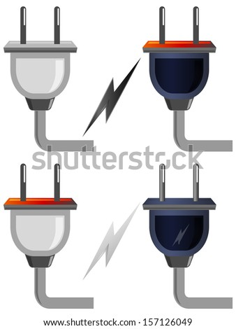 Plug Icon - Illustration - stock vector