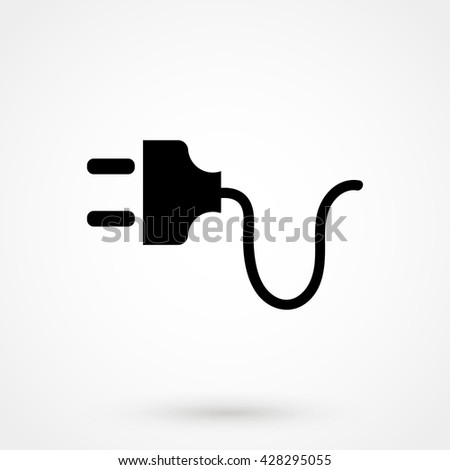 Plug Icon isolated on background. Modern flat pictogram, business, marketing, internet concept. Trendy Simple vector symbol for web site design or button to mobile app. Logo illustration - stock vector