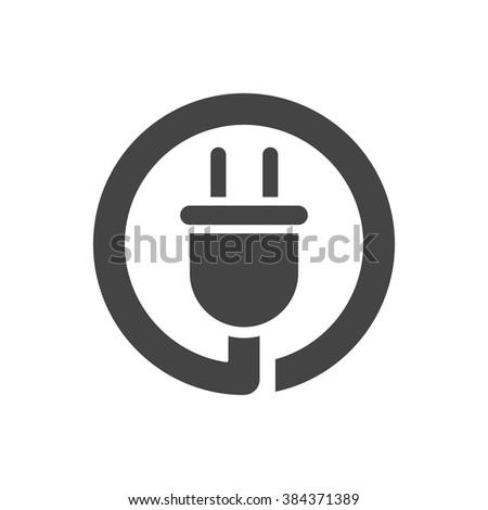 plug icon vector illustration - stock vector