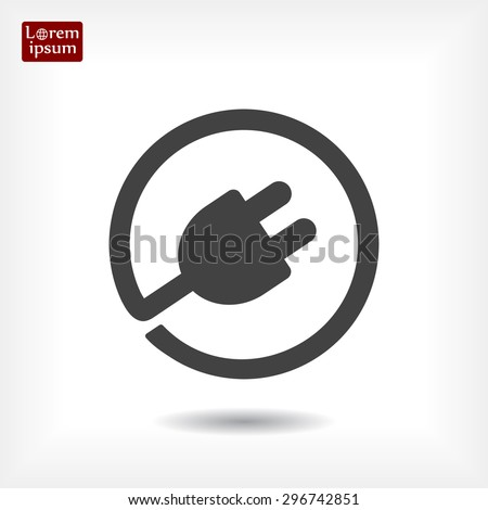 Plug-in, electrical plug vector icon 10 EPS - stock vector