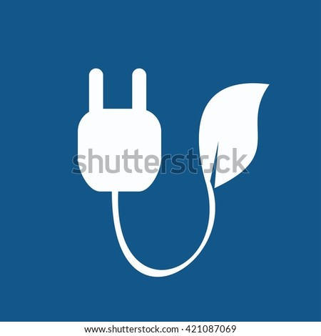 Plug Power Consumption - stock vector