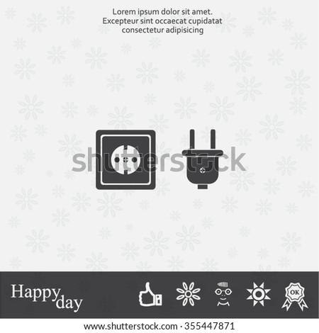 plug socket icon - stock vector