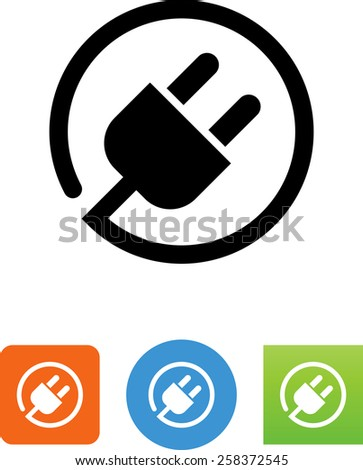 Plug symbol for download. Vector icons for video, mobile apps, Web sites and print projects.  - stock vector