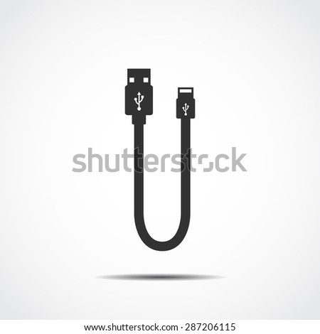 Plug Wire Cable USB Computer  background vector illustration  - stock vector