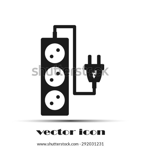 plug, wire ,socket - stock vector