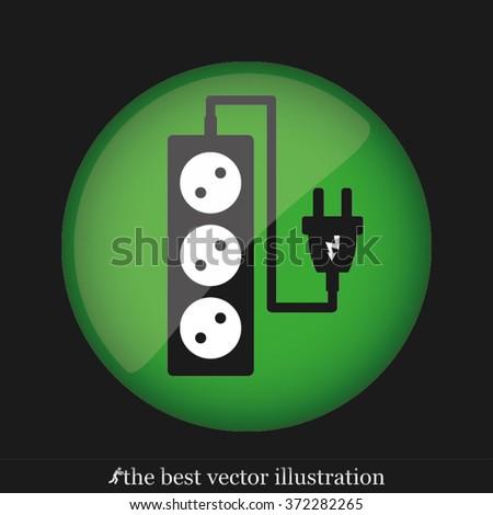 plug, wire ,socket - stock vector