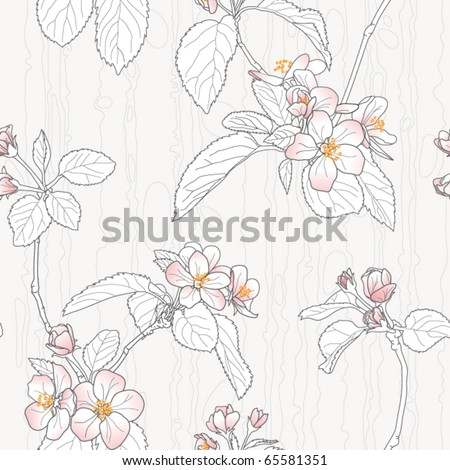 Plum Blossom - stock vector