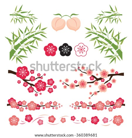 Plum Blossom and Bamboo Ornament, National Flower of the Republic of China