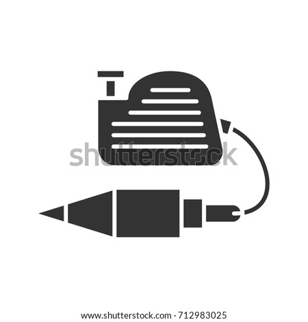 Plumb Bob Glyph Icon Silhouette Symbol Vertical Plummet Negative Space Vector Isolated