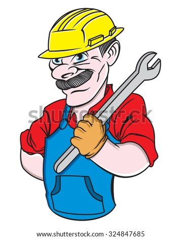 Plumber man vector illustration
