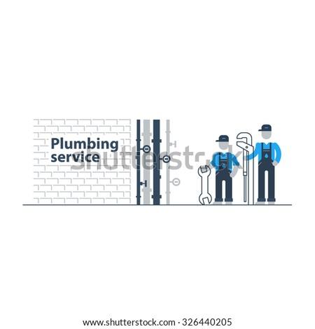 Plumbing services - stock vector