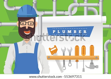 Plummer design,clean vector