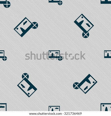 Plus, add File JPG sign icon. Download image file symbol. Seamless pattern with geometric texture. Vector illustration - stock vector