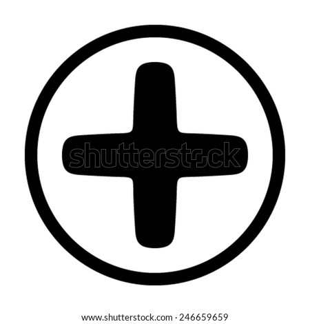 plus, icons, vector - stock vector
