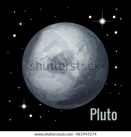 Pluto Planet 3d Illustration High Quality Stock Vector ...
