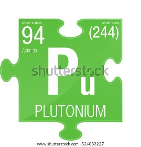 Plutonium Symbol Element Number 94 Periodic Stock Vector 524033227