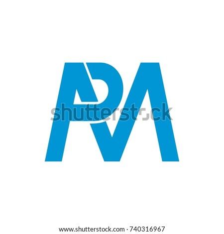 Pm mp logo initial letter design stock vector 740316967 shutterstock pm or mp logo initial letter design template vector spiritdancerdesigns Images