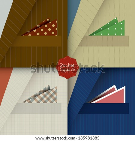 Pocket squares   - stock vector