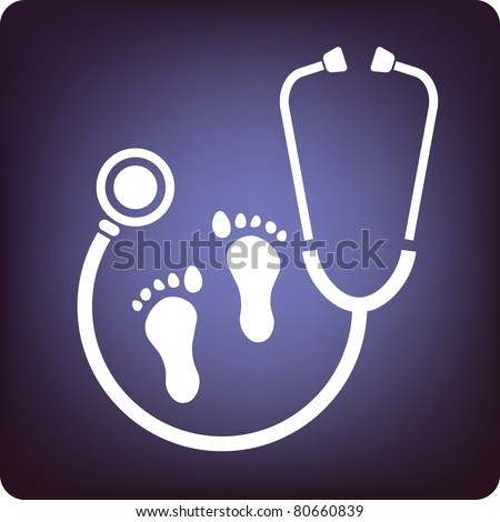 Podiatry - stock vector