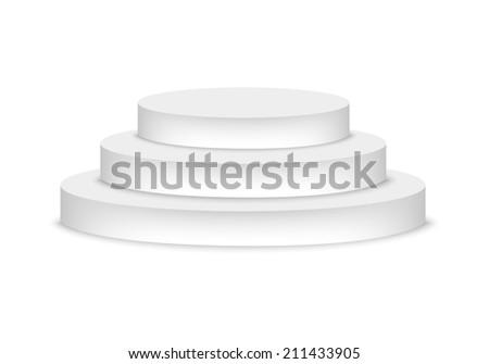 Podium - stock vector