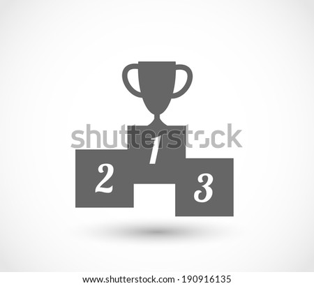 Podium icon with goblet vector - stock vector