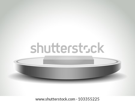 Podium template - stock vector