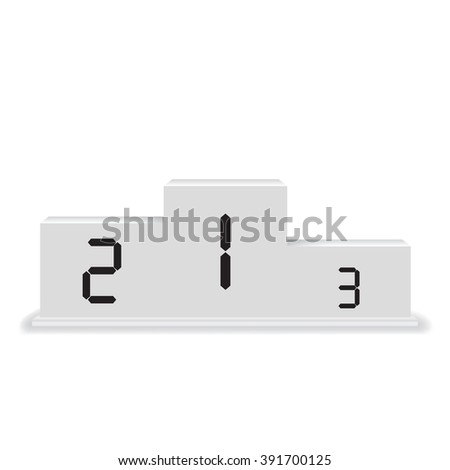 Podium winners - stock vector