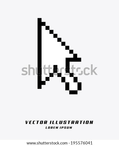 Pointer design over white background, vector illustration