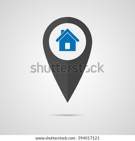 Pointer house for cards, vector - stock vector
