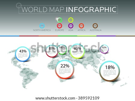 Pointer marks on the world map. Infographic design. Template. Web concept. Vector. Eps10 - stock vector