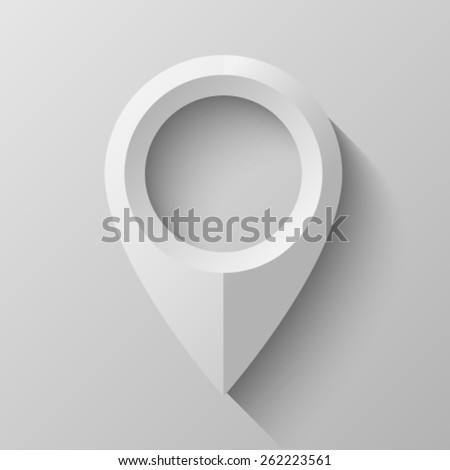 Pointer with bevel - stock vector