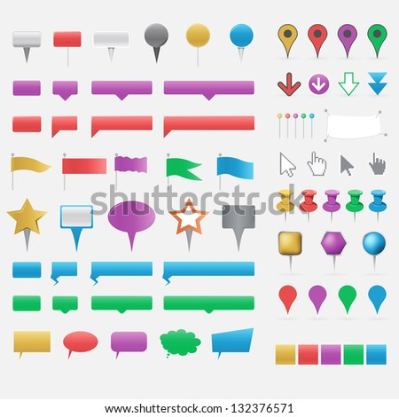 Pointers - stock vector