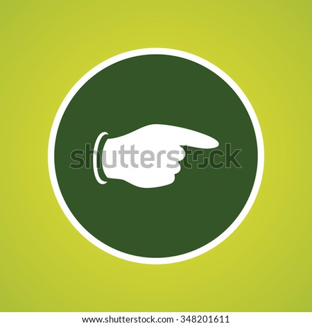 Pointing Finger Icon - stock vector