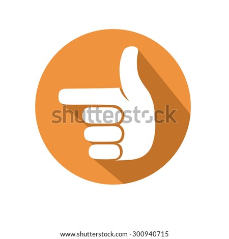 pointing gesture - stock vector