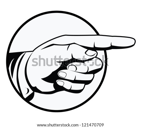 pointing hand - stock vector