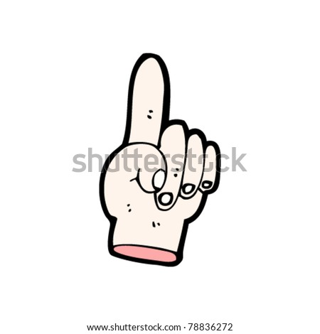pointing hand cartoon
