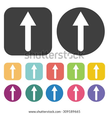 Pointing up Arrow icons set. Vector Illustration eps10 - stock vector