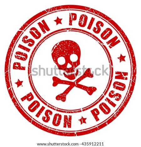 Poison Danger Red Rubber Stamp Vector Stock Photo Photo Vector