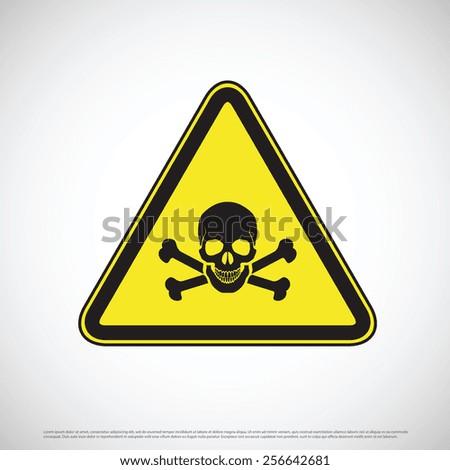 Poison toxic hazard warning sign - stock vector
