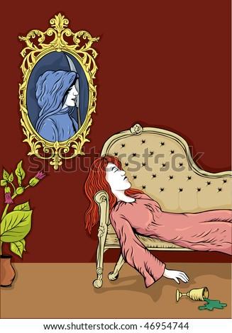 poisoning heath illustration - stock vector