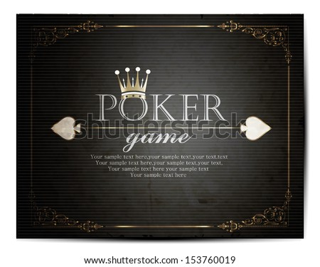 Poker Background - stock vector