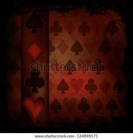 Poker background in vintage style , vector illustration