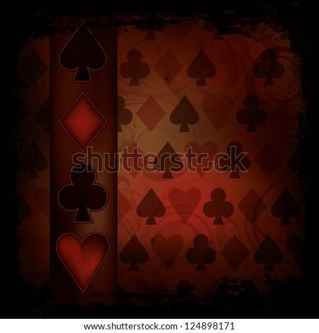 Poker background in vintage style , vector illustration - stock vector