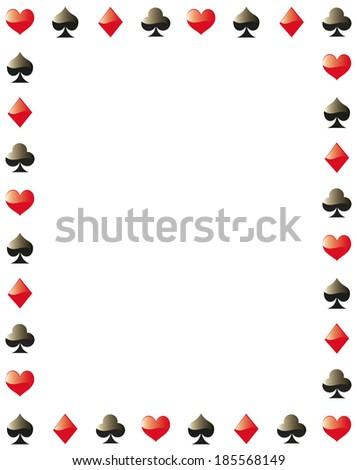 poker border frame - stock vector