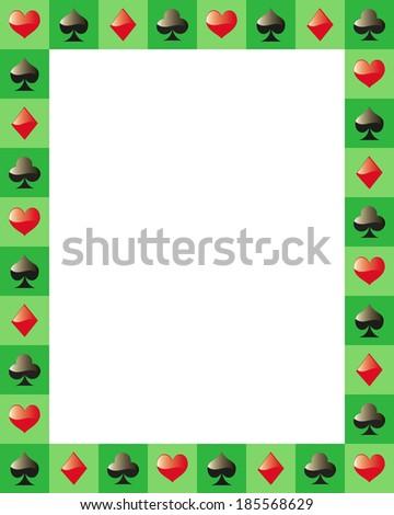 poker border frame game cards - stock vector
