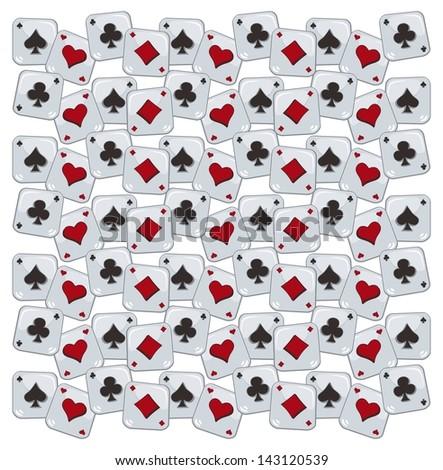 poker card cartoon seamless pattern - stock vector