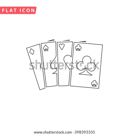 Poker Cards Icon Vector. Poker Cards Icon JPEG. Poker Cards Icon Picture. Poker Cards Icon Image. Poker Cards Icon JPG. Poker Cards Icon EPS. Poker Cards Icon AI. Poker Cards Icon Drawing - stock vector