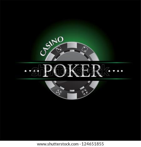 poker casino logo - stock vector